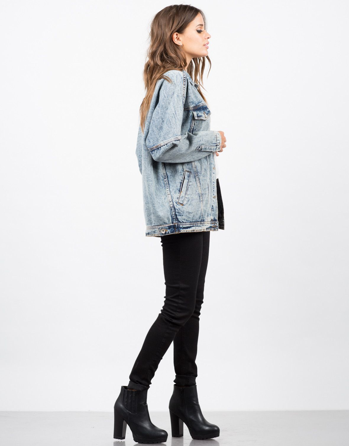 f9bb82d69 Oversized Vintage Washed Denim Jacket | Clothed. | Denim jacket ...