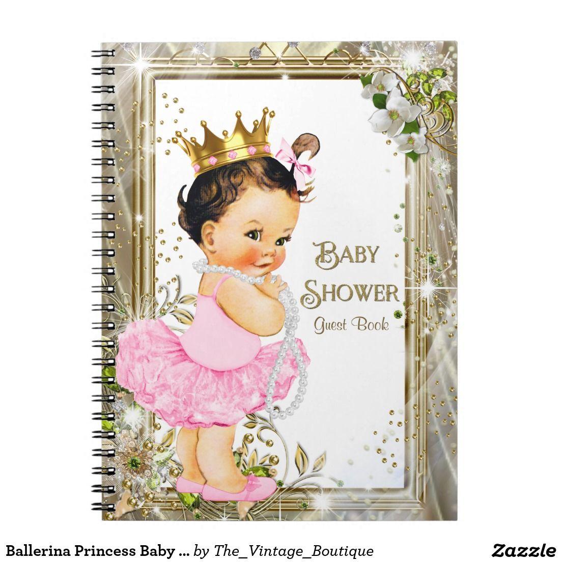 Ballerina Princess Baby Shower Guest Book Jpg 1104x1104