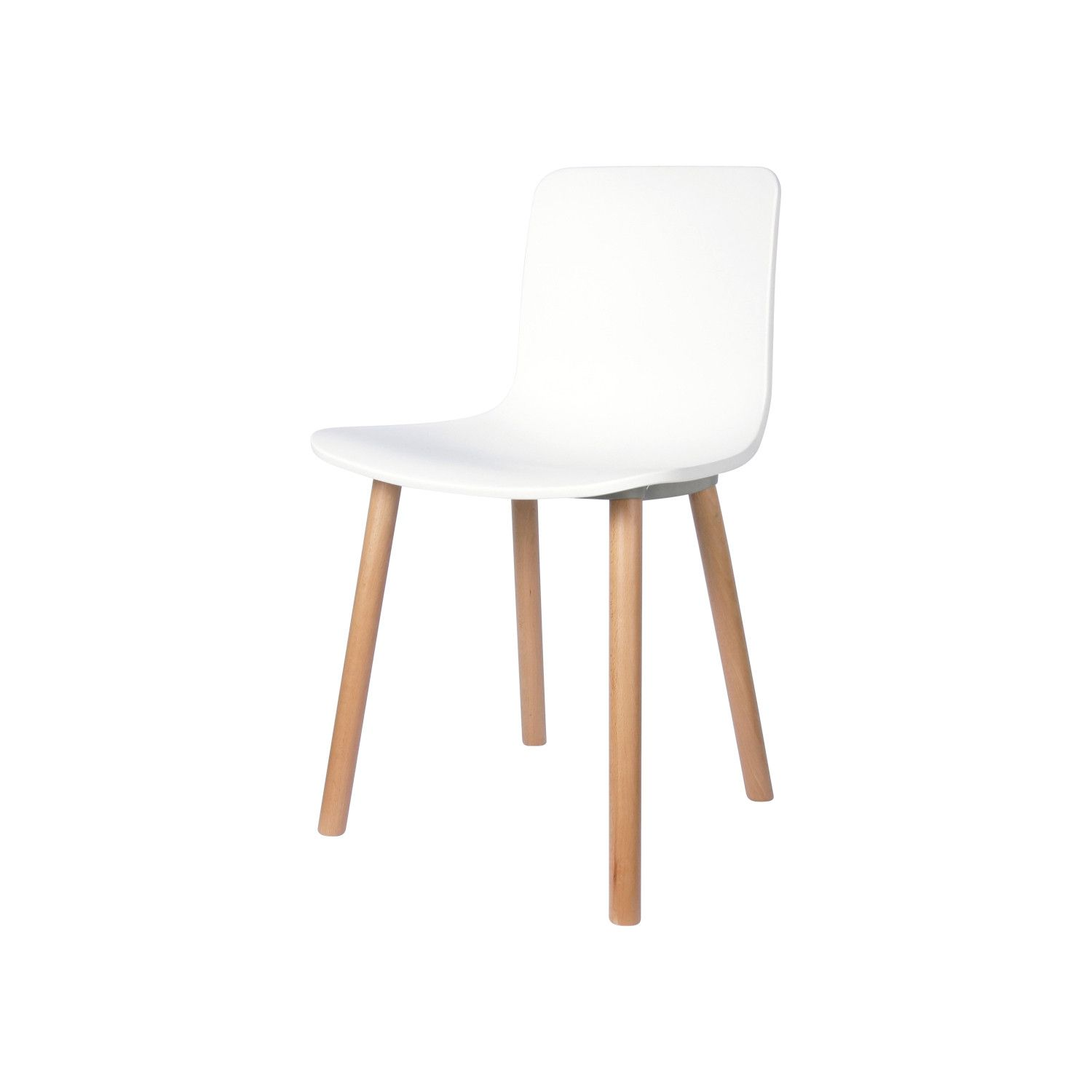 Smooth Side Silla de Patas de Madera - Varios Colores – Alameda