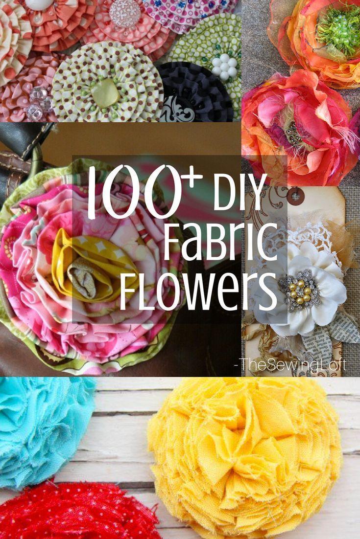 100+ DIY Fabric Flower Patterns You Can Make #flowerfabric