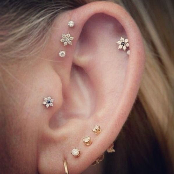 For the girly girl | 26 Unique Ear Piercing Ideas | Bustle