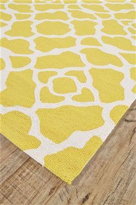 Feizy Cetara Collection 4105f Yellow White Area Rug White Area