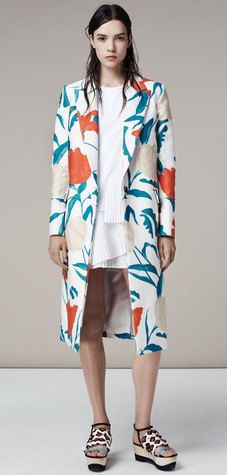 summer floral coat