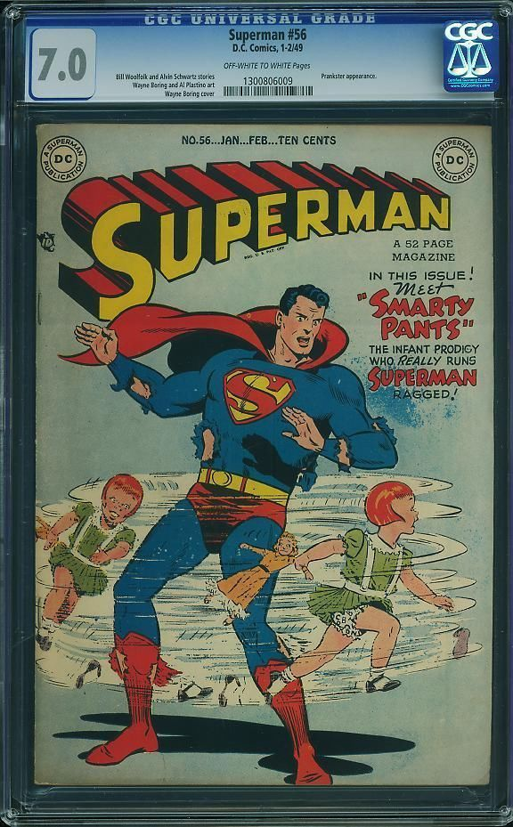 Superman 56 Cgc 7 0 Jan Feb 1949 From The Jaime Graham Collection Bk Value 480 Ebay Superman Comic Collection