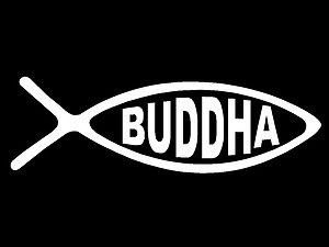Details About Buddha Decal Ick Fish Religion Faith Buddhism