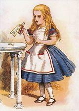 Impressão 8x10 Era Vitoriana crianças Arte História De Alice No País Das Maravilhas Lewis Carroll