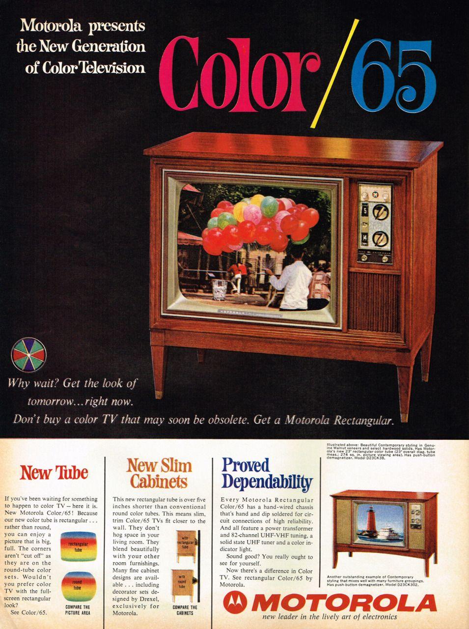 Motorola Color TV 1965