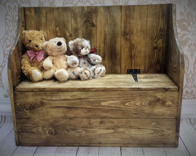 Chunky Rustic Toy Box Or Blanket Box 034 Etsy Rustic Toy Boxes Wooden Toy Boxes Rustic Toys