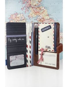 This super cute travel wallet from the Paper Plane range will be your perfect companion whilst travelling. It boasts slots for credit cards and tickets, files for currency, tickets, documents and hotel details, a pen holder, a pocket for your passport, a zip-up built in purse for loose change. What more could you want!