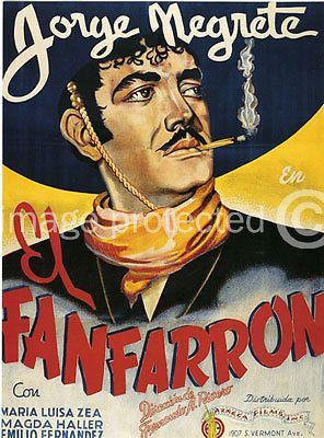 El Fanfarron Vintage Mexican Cinema Poster -24x36 in Posters   eBay