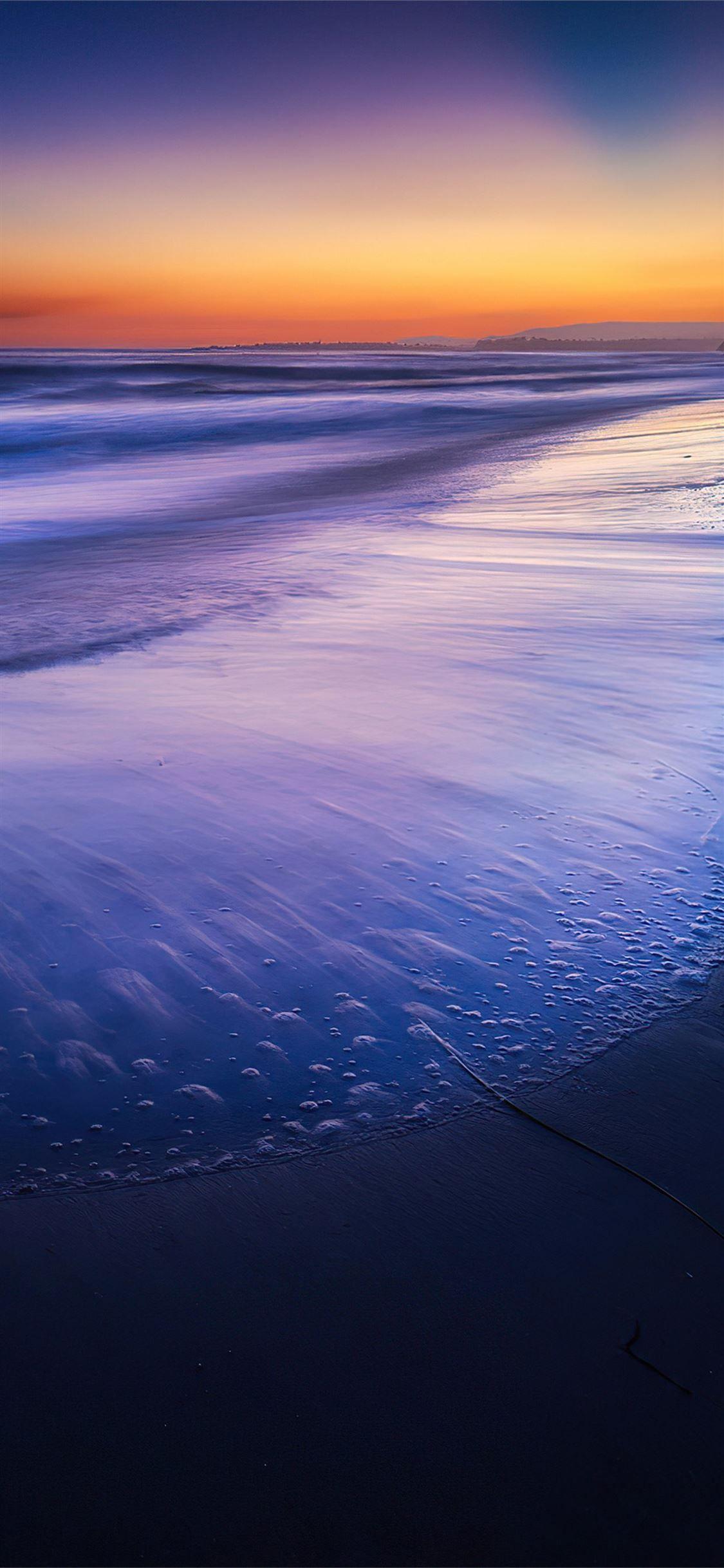 Silent Beach Wave Sunset 4k Beach Sunset Nature 4k Iphone11wallpaper In 2020 Sunset Wallpaper Sunset Beach Waves