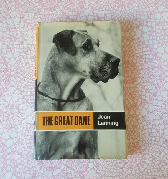 Vintage Great Dane Dog Book The Great Dane By Jean Lanning