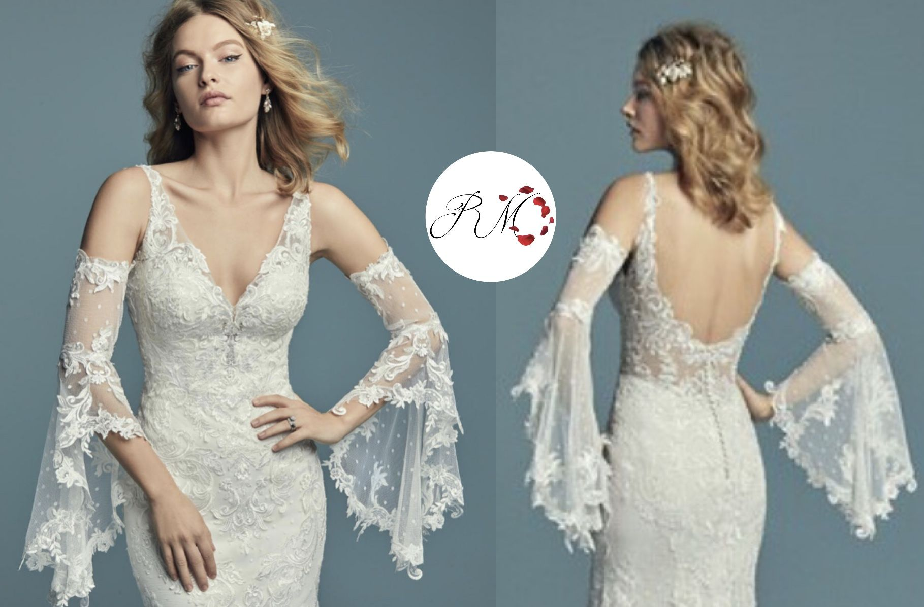 Detachable arm bands  Dresses with sleeves, Bridal wear, Gowns