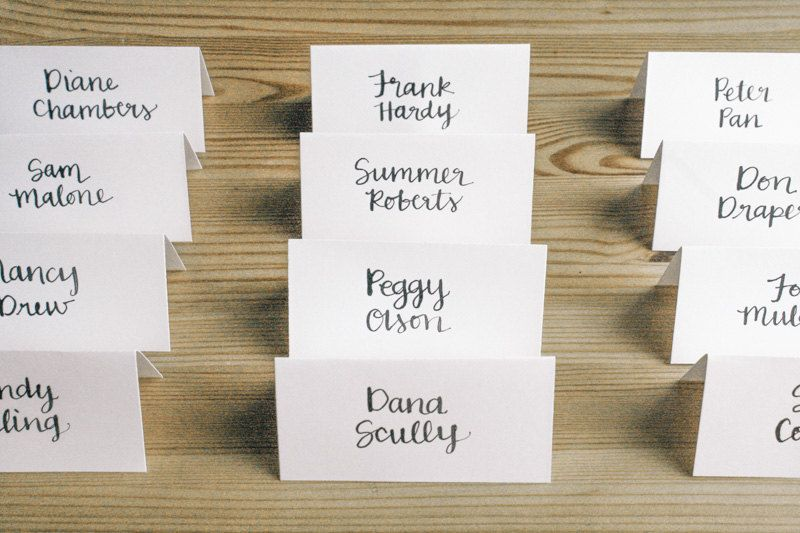 CALLIGRAPHY PLACE CARDS, custom calligraphy, style #7 - wedding
