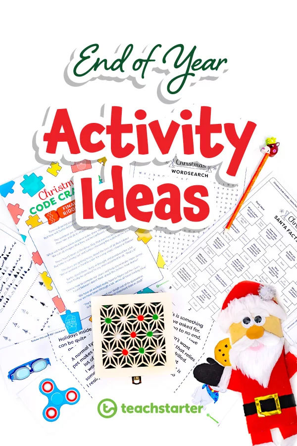 End of Year Activities Christmas activities for kids