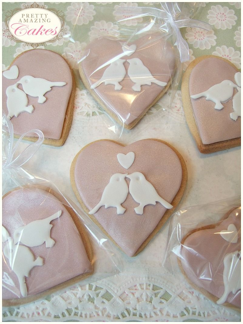 Heart Shaped Biscuit Wedding Favours