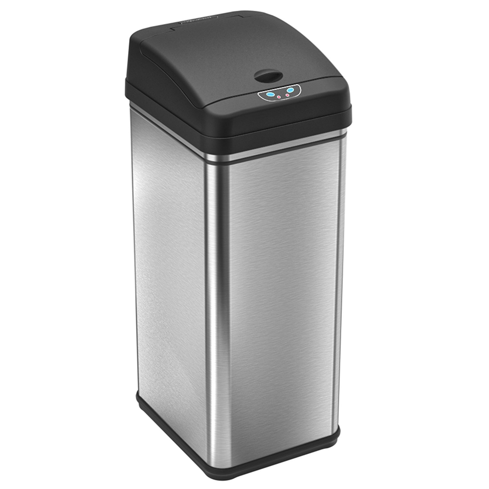 Itouchless 13 Gallon Touchless Sensor Kitchen Trash Can Stainless Steel Odor Filter System Walmart Com Kitchen Trash Cans Trash Can Trash Cans