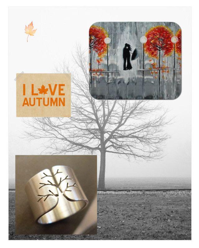 """I love autumn"" by kreagora ❤ liked on Polyvore featuring sanat"