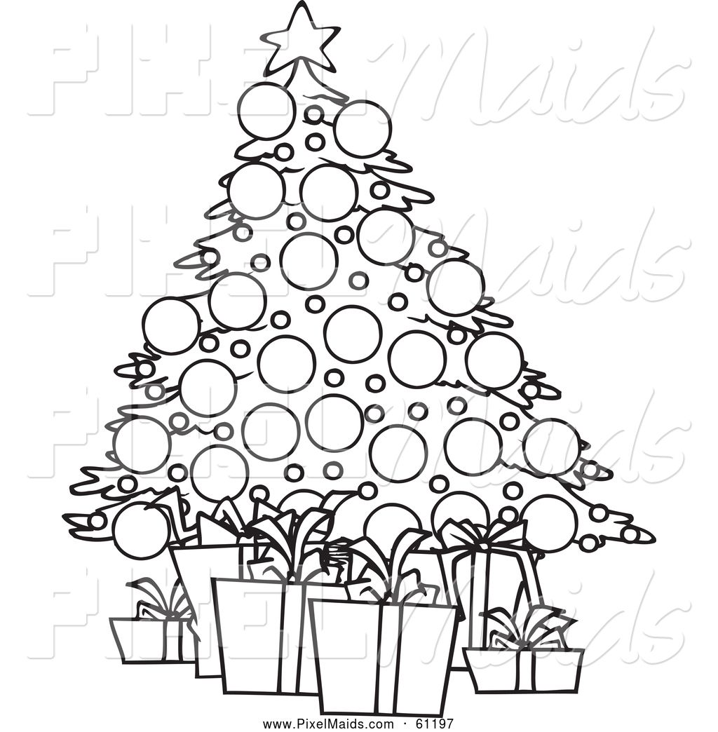 Free Black & White Christmas Clip Art Images School
