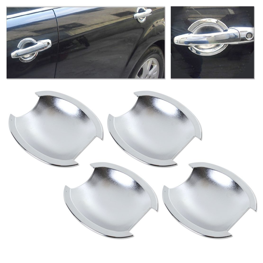 New High Quality Abs Plastics With Triple Chrome Door Handle Cup Bowl For Nissan Versa Tiida Latio 2007 2008 2009 Chrome Door Handles Nissan Versa Door Handles