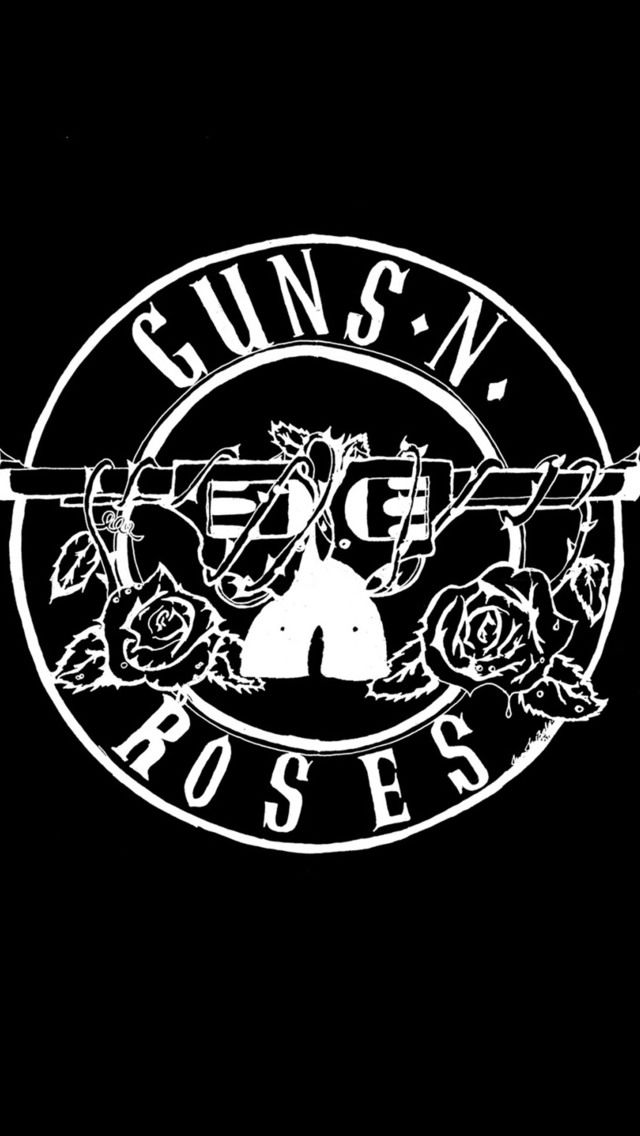 Black and white pattern iPhone 5 Wallpapers #gunsnroses   iPhone wallpapers and backgrounds ...