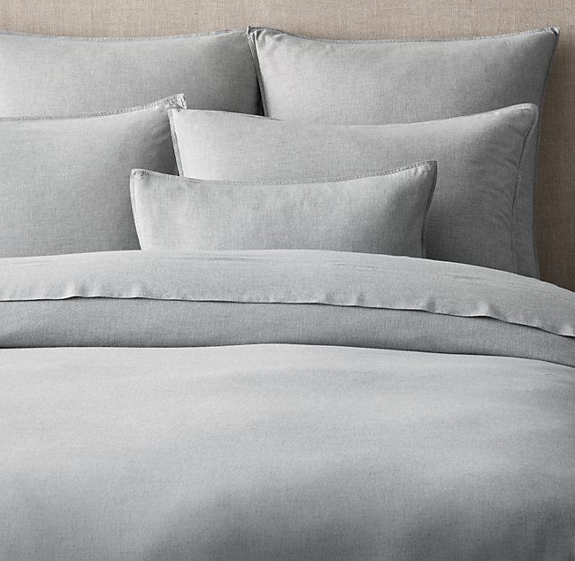 Photo of Heathered Cotton-Cashmere Duvet Cover