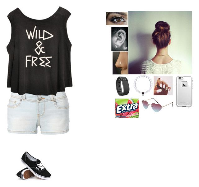 """""""Hangin with friends in summer"""" by gymnastics7 ❤ liked on Polyvore featuring beauty, LE3NO, Vans, LifeProof and Fitbit"""