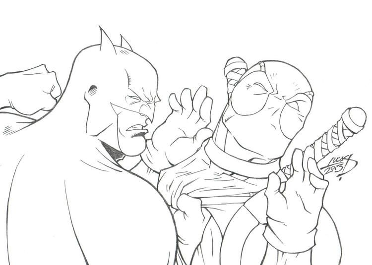 Simple Deathstroke Vs Deadpool Coloring Pages Deathstroke Vs