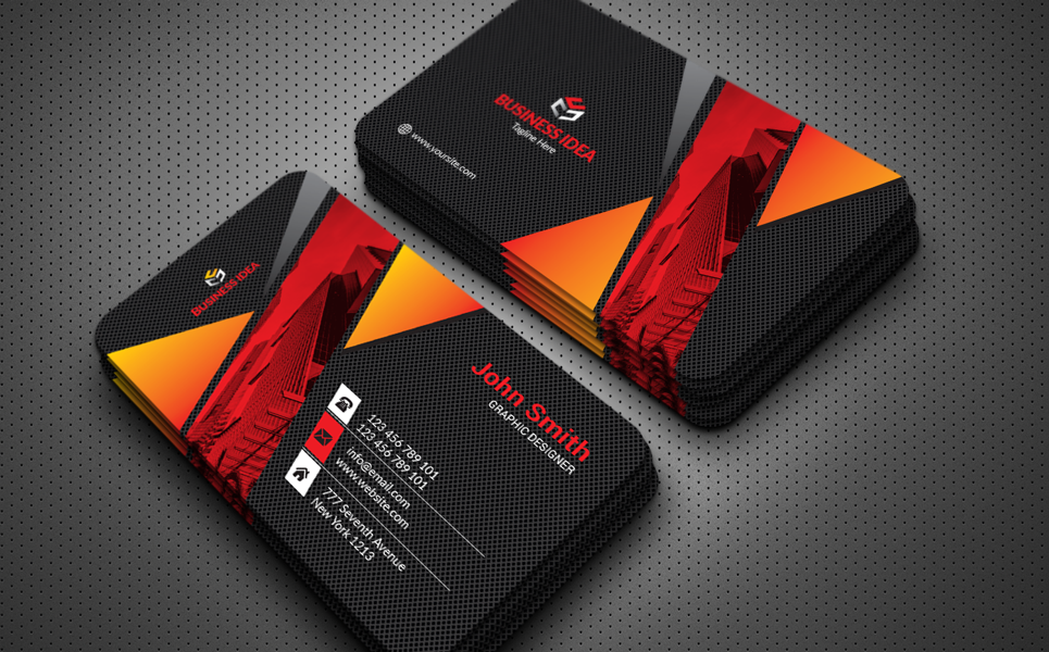Quality Business Card Printing Corporate Identity Template 76214 Visiting Card Design Business Cards Business Card Design