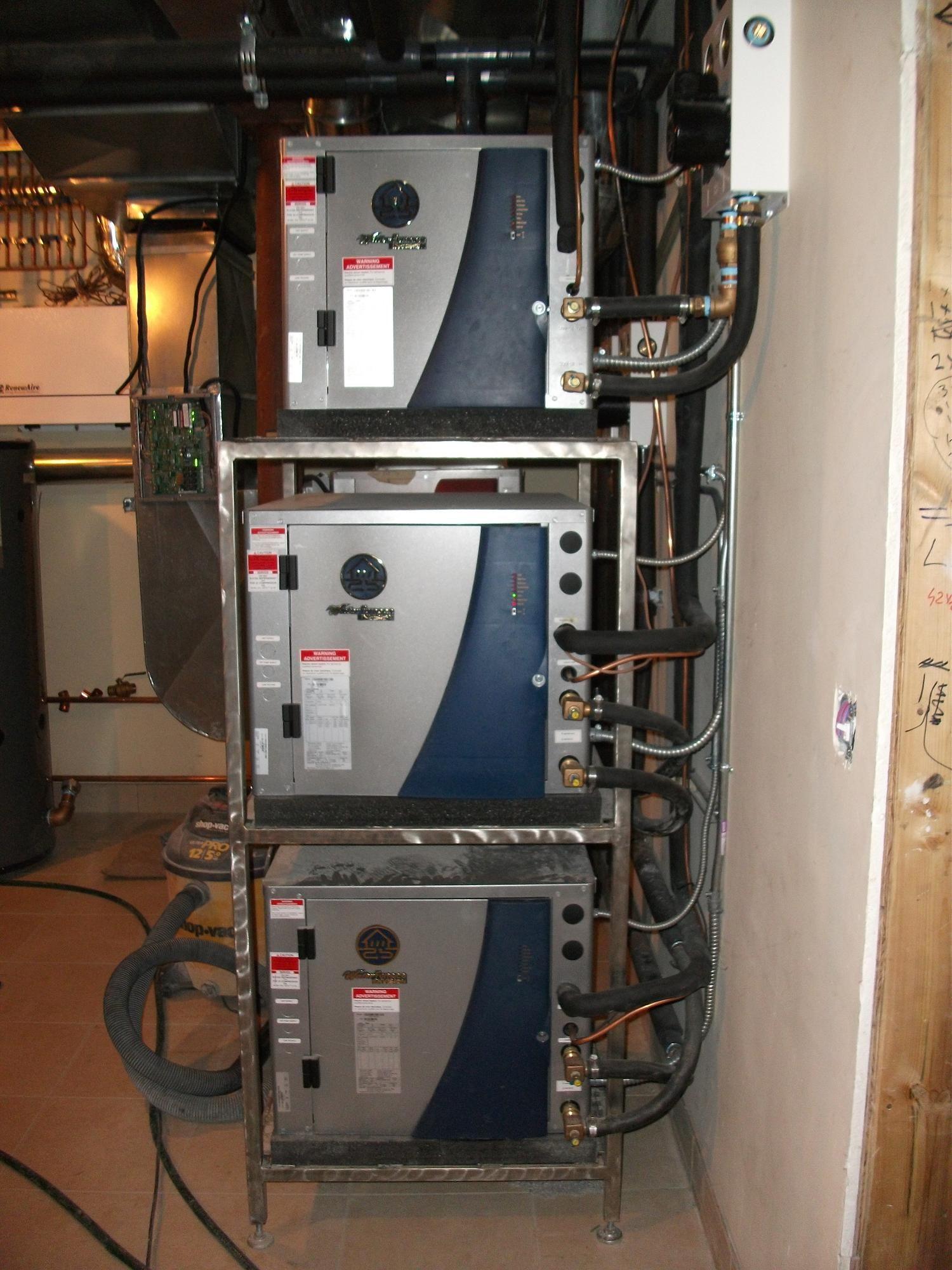 Waterfurnace Multiple Units Installed Air Ease Heating And Cooling Geothermal Energy Geothermal Geothermal Heating