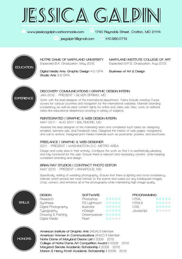 Graphic Design Resumes Example Of Design Resume  I'm A Designer Pinterest  Design Resume