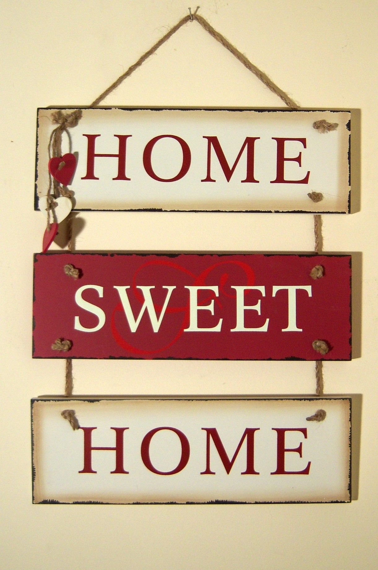 Home Sweet Home Vintage image detail for - signs and plaques / vintage style wooden red