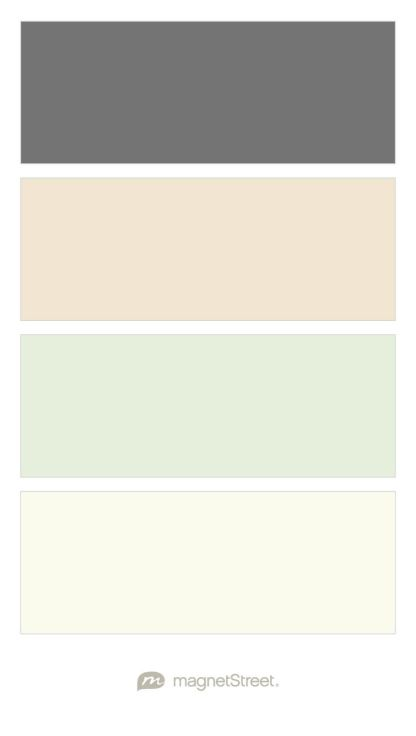 Charcoal, Champagne, Mint, and Ivory - Free Color Swatches ordered ...