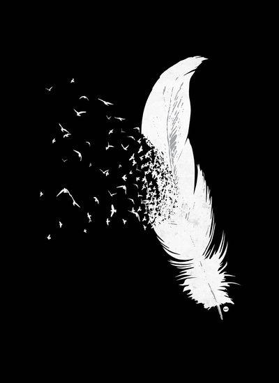 Birds Of A Feather Black Art Print Cute Black Wallpaper Feather Artwork Dark Wallpaper Iphone
