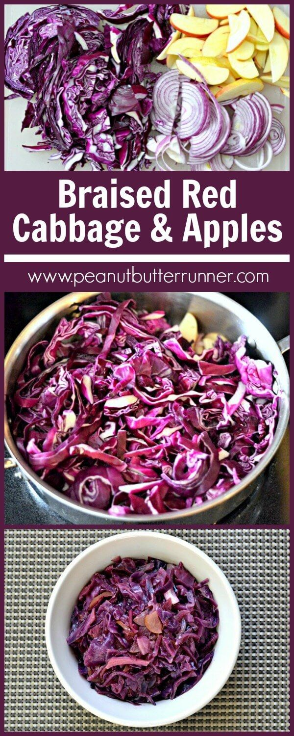 Braised Red Cabbage with Red Onion Apples and Balsamic
