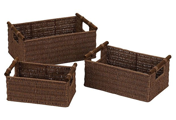 Asst of 3 Paper Rope Baskets on OneKingsLane.com