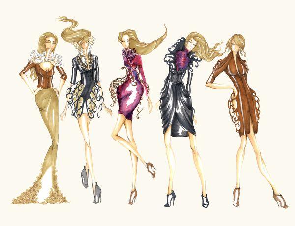 Fashion Drawing And Illustration On Behance Fyydxw « gradeclothing ...
