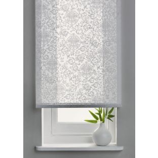 Living 4ft Swirl Semi Privacy Roller Blind White Buy