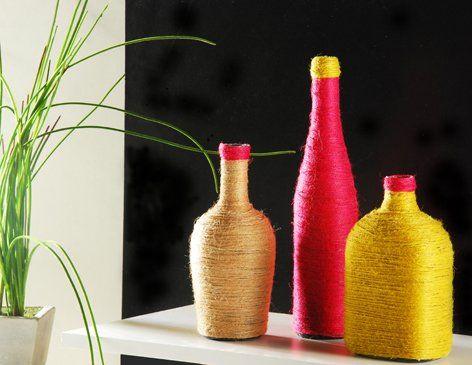 Manualidades para el hogar botellas decoradas Botella, DIY y
