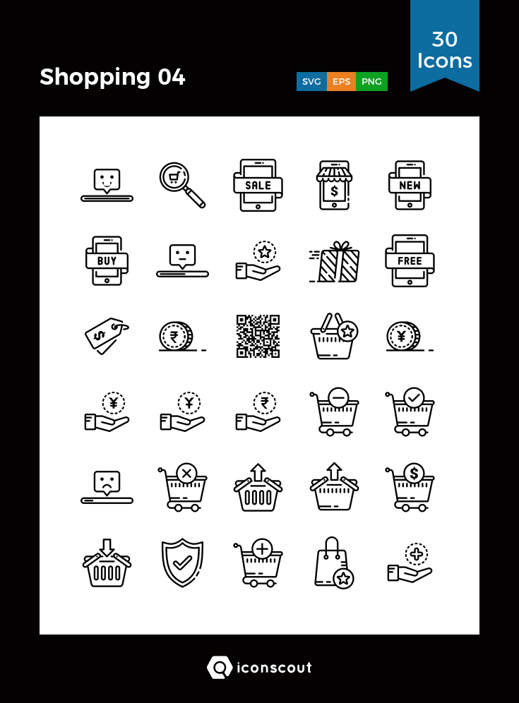 Download Shopping 04 Icon pack Available in SVG, PNG