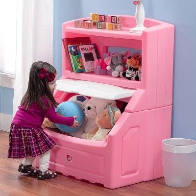 Step2 Lift And Hide Bookcase Storage Chest Pink In 2020 Bookcase Storage Storage Chest Storage