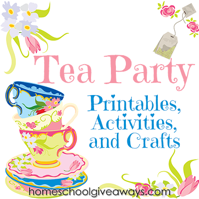 free tea party printables activities and crafts - Princess Tea Party Coloring Pages