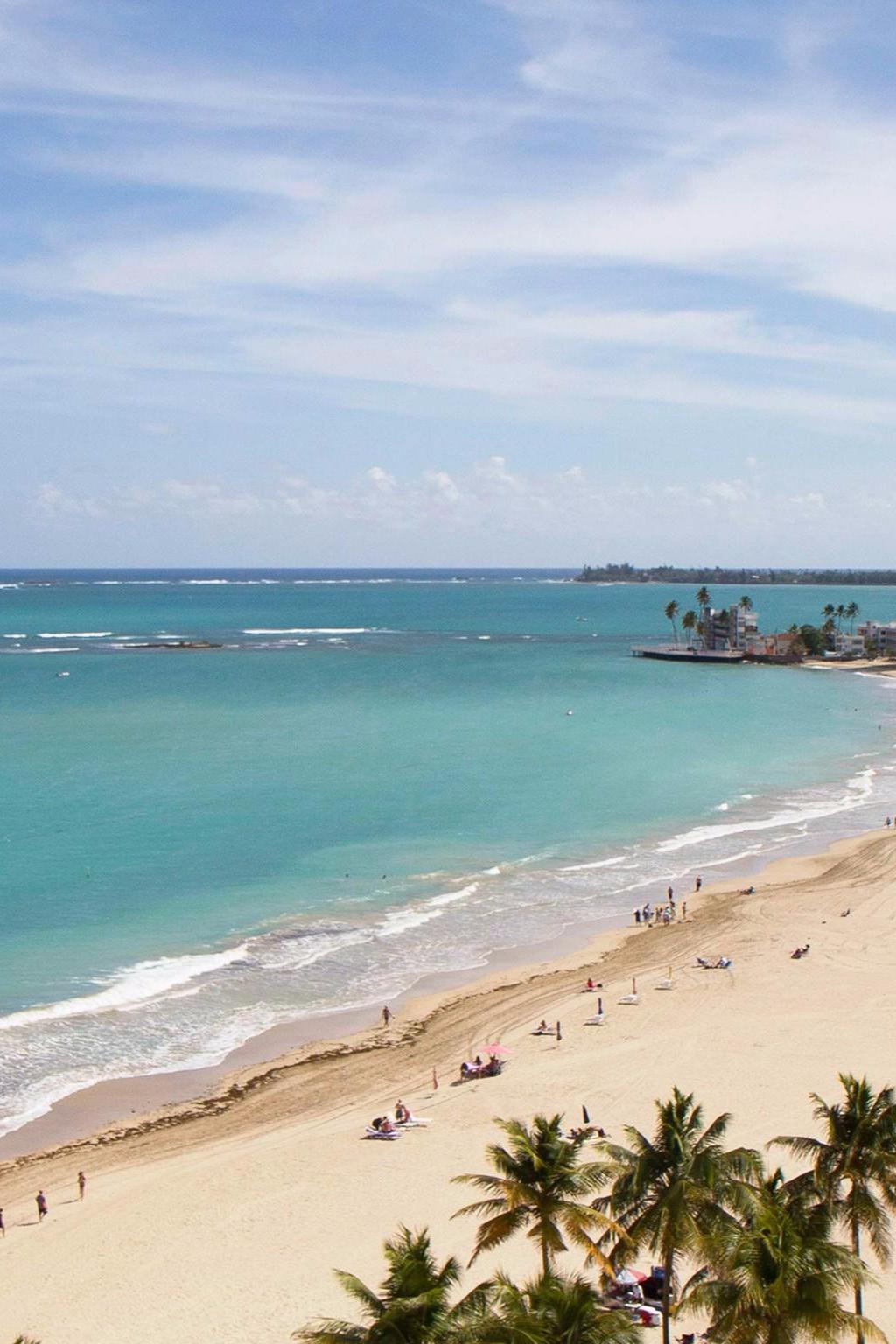 Head To The Rooftop Bar And Lounge For Views Like This Of Isla Verde Neighborhood Beachfront San Juan Water Beach Club Carolina Puerto Rico
