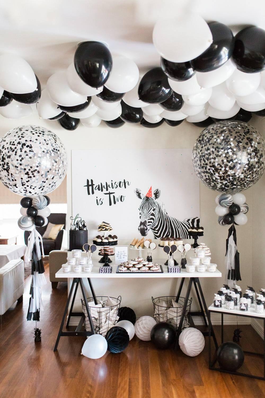 Monochrome Safari Party Theme White Party Theme Black And White