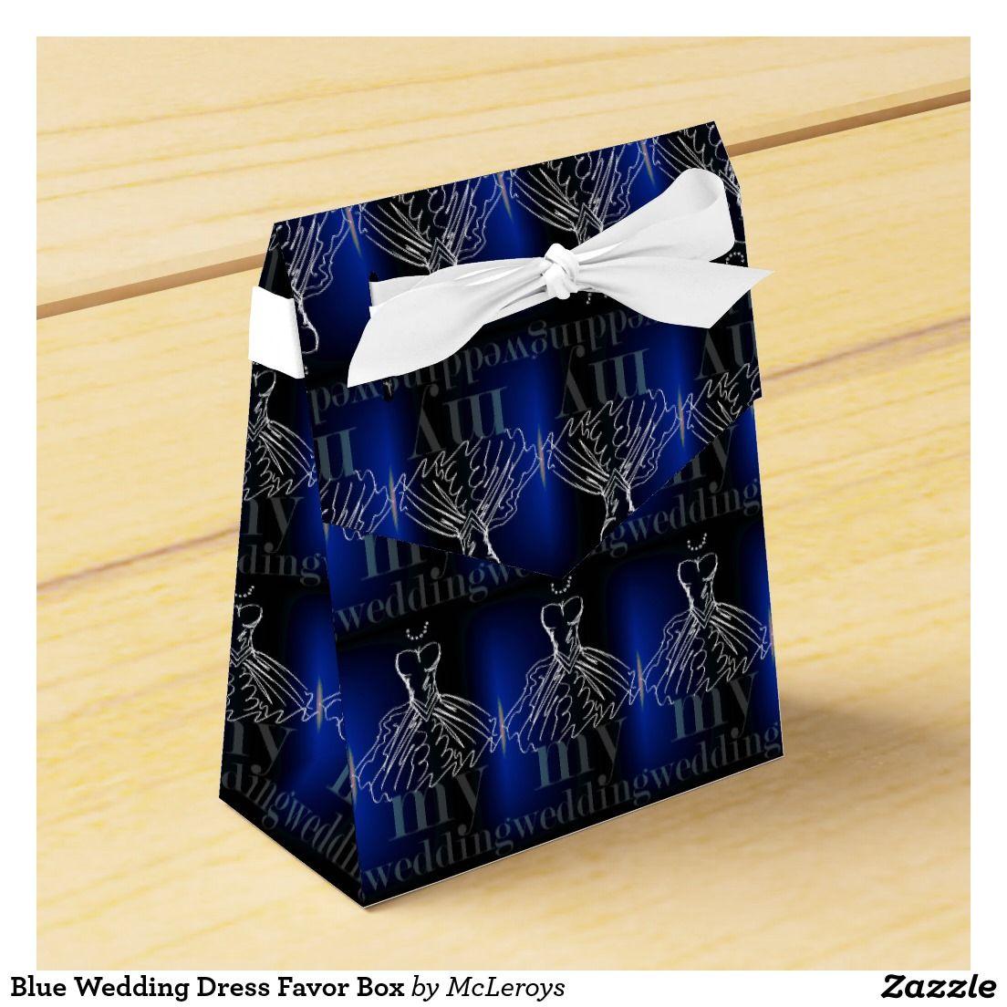 Blue Wedding Dress Favor Box | Blue, Blue wedding dresses and Dresses