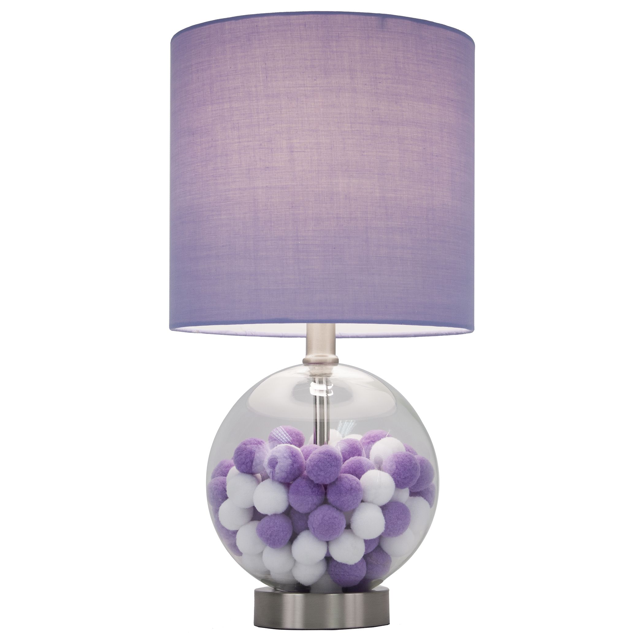 The purple cotton ball table lamp will add frivolity to any the purple cotton ball table lamp will add frivolity to any setting with its whimsical appearance geotapseo Image collections