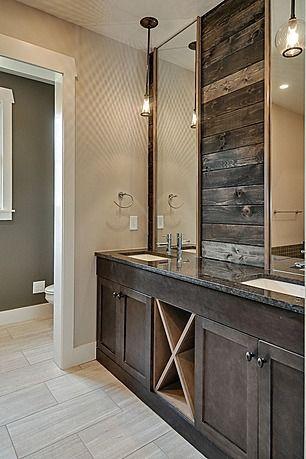 great rustic master bathroom | loft and lodge | pinterest