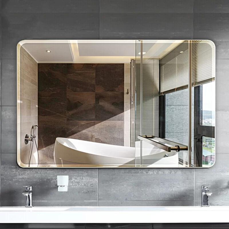 Parik Modern Contemporary Frameless Bathroom Vanity Mirror In 2020 Bathroom Vanity Mirror Bathroom Mirror Storage Frameless Vanity Mirrors