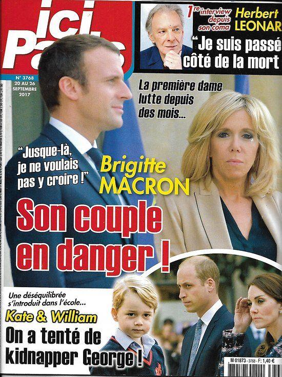 ICI PARIS n°3768 20 septembre 2017 Brigitte & Emmanuel