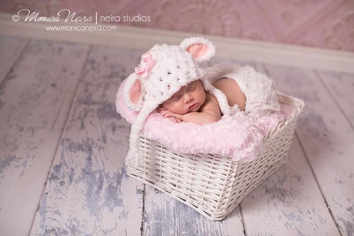 Baby girl hat little lamb hat crochet hat newborn photography photo prop